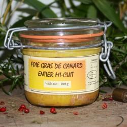 Foie gras de canard mi cuit 180 g