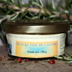 Pâté de foie de Canard - 20% Foie Gras 50 g