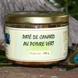 Pâté de canard au poivre vert 180 g