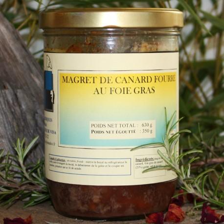 Magret de canard fourré au foie gras 630 g