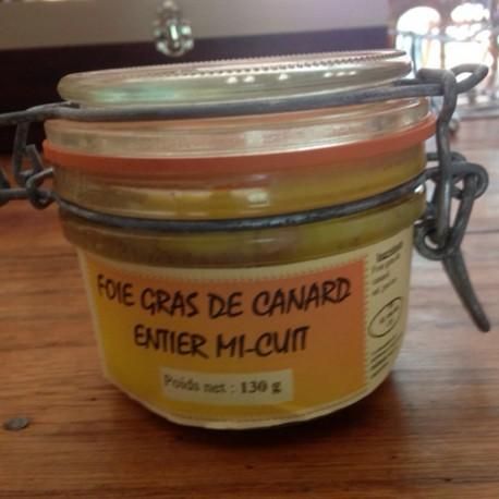 Foie gras de canard mi cuit 130 g